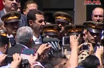 "Syria Feature: Assad Appears at ""Martyrs"" Ceremony, Acknowledging Defeats as Well as Claiming Victories"