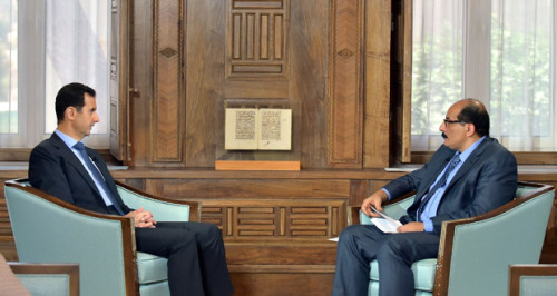 Syria Feature: Facing Military Difficulties, Assad Puts Blame on Israel in TV Interview