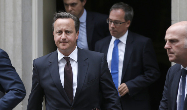 British Prime Minister, David Cameron leaves 10 Downing Street in London, Britain