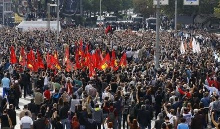 Turkey Feature: 1000s Protest at Scene of Ankara Bombing