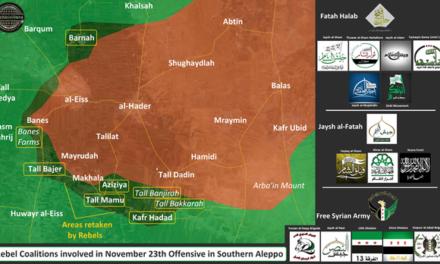 Syria Daily, Nov 24: Rebels Strike Back South of Aleppo