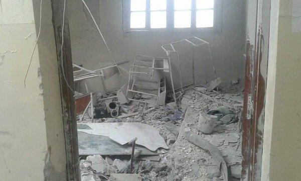 DAMAGED SCHOOL ANJARAH