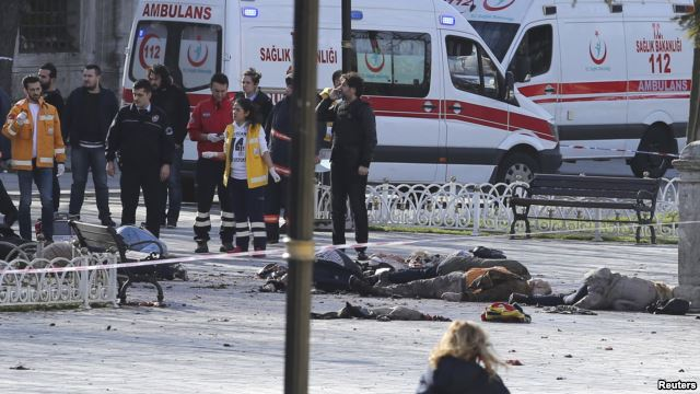 Turkey Developing: 10 Killed, 15 Wounded by Istanbul Suicide Bombing