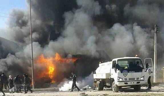 ABU DUHUR FUEL MARKET BOMBED 07-03-16