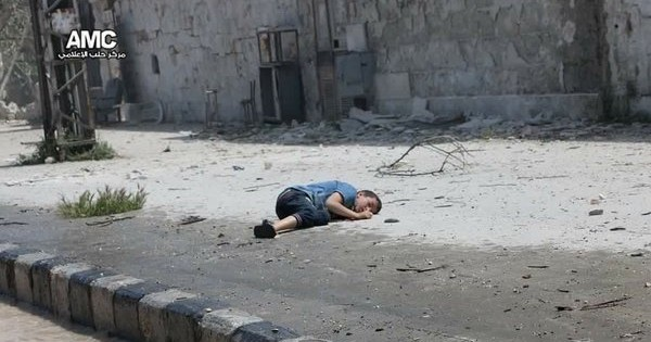 ALEPPO CHILD KILLED AIRSTRIKES 22-04-16