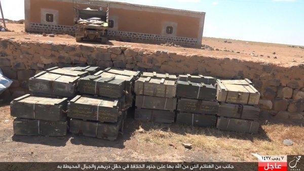 ISIS CAPTURED AMMO ALEPPO 04-16