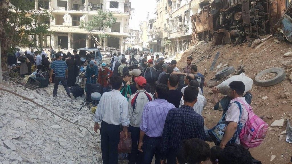 DARAYYA CIVILIANS REMOVED 08-16