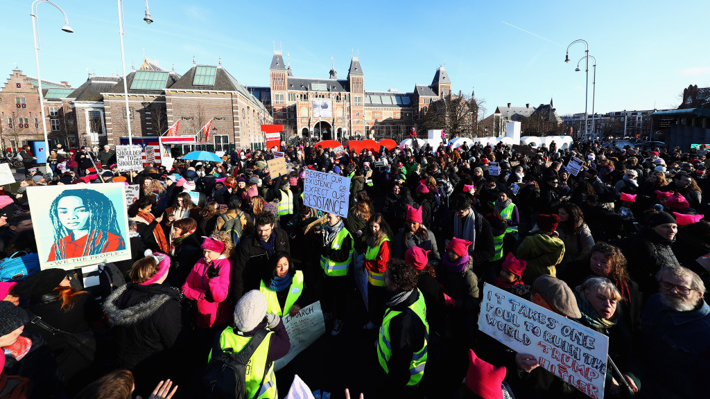 Women's March In Amsterdam