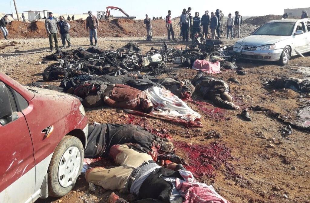 ISIS BOMB NEAR AL-BAB 24-02-17