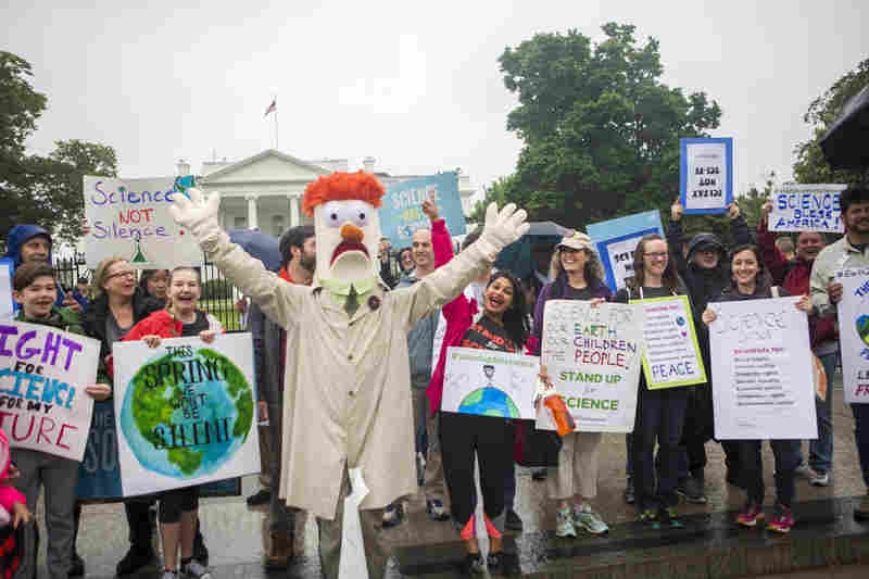 MARCH FOR SCIENCE BEAKER