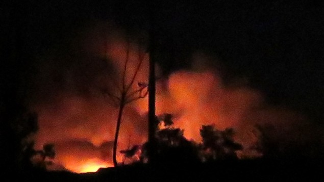 "Developing: ""Huge Blasts"" at Regime Airbase Near Damascus — Israel Responsible?"