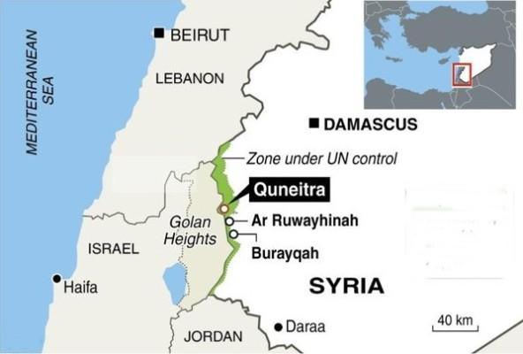 QUNEITRA DARAA MAP