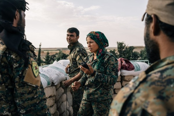 YPG FIGHTERS EAST OF RAQQA