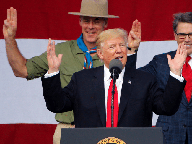 """Trump's Bizarre Boy Scouts Speech — Bragging, Threats, and Wink-Wink About """"Hot Parties"""""""