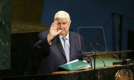 Syria Daily: FM Moallem to UN — De-Escalation Zones Are Temporary