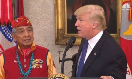 "TrumpWatch, Day 312: Trump Repeats ""Pocahontas"" Insult in Ceremony with Native American Veterans"