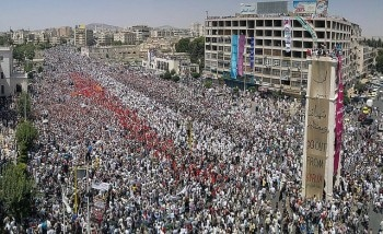 Opposition rally in Hama, July 22, 2011