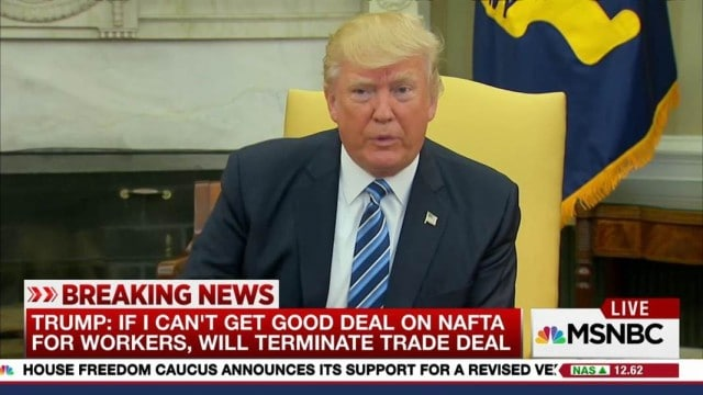 Why Trump Won't Tear Up NAFTA