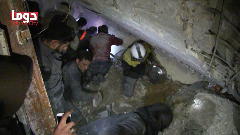 30+ Killed in Latest Pro-Assad Strikes Near Damascus