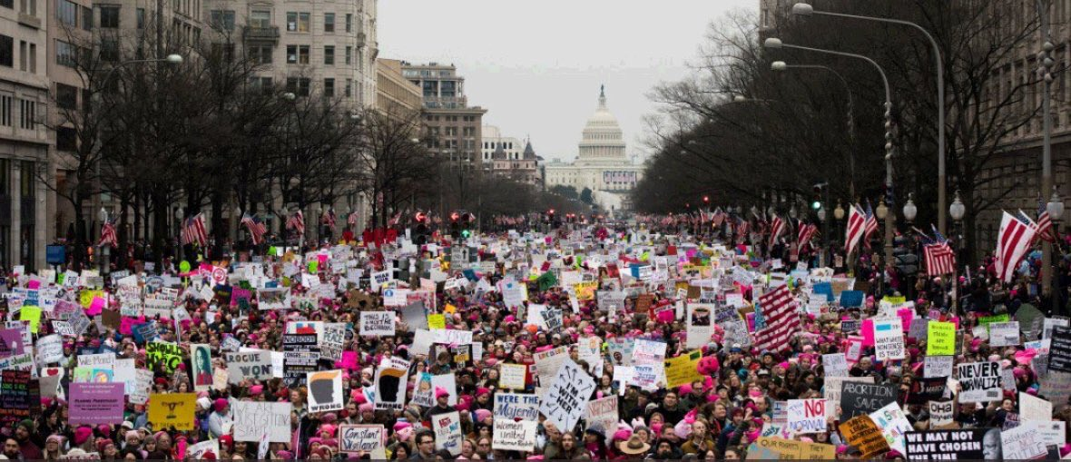 100,000s in Women's Marches on Anniversary of 2017 Gatherings