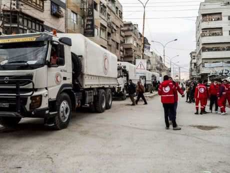Syria Daily: 1st Aid Convoy to East Ghouta in 2 1/2 Months