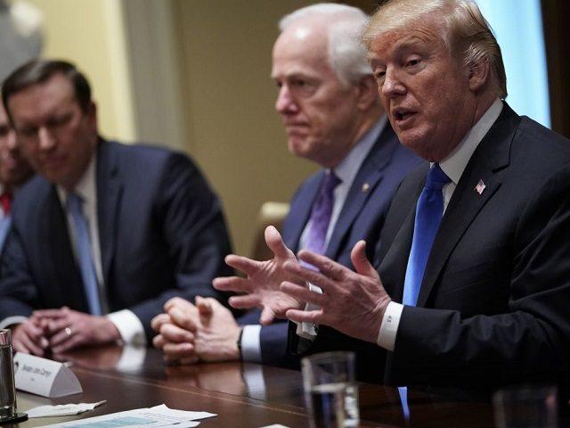 "Trump Shifts Position Again on Gun Control in ""Surreal"" Meeting with Legislators"