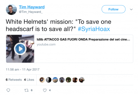 HAYWARD WHITE HELMETS TWEETS