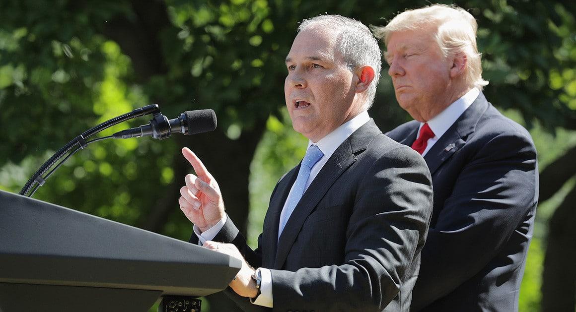 Trump Defends Embattled EPA Head Pruitt