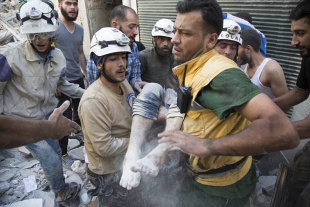 Syria Daily: UK Resettles About 100 White Helmets and Relatives