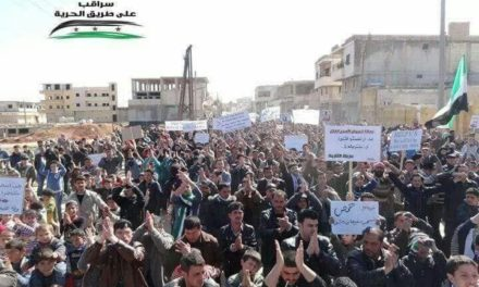 Syria Pictures: Protests Across Idlib As Russia & Assad Regime Threaten Attacks