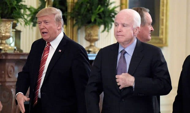 TrumpWatch, Day 571: Trump Slights McCain as He Signs McCain National Defense Act