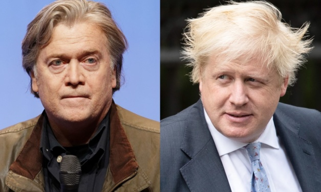 Collusion: Wanna-Be UK Prime Minister Boris Johnson and Trump's Hard-Right Strategist Steve Bannon