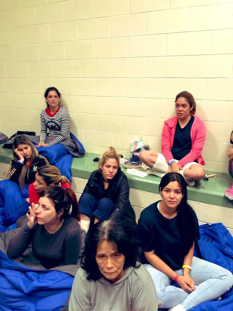 Migrant women in the El Paso, Texas facility