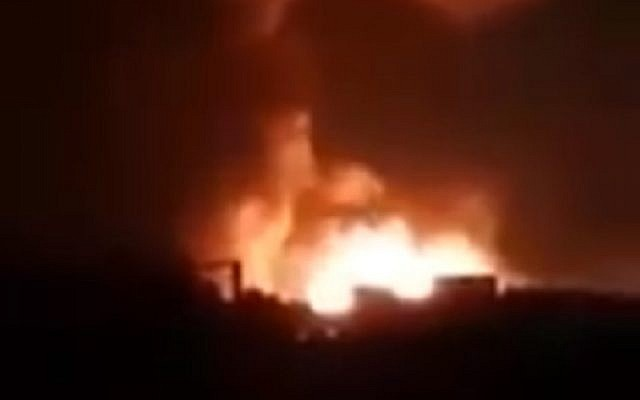 """Israel Strikes Near Damascus to """"Halt Attack by Iranian Drones"""""""