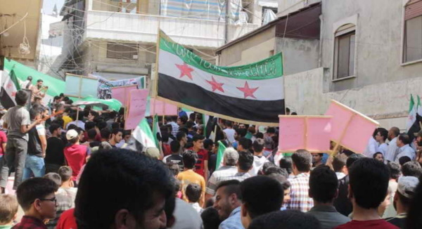 Rally in Idlib Province, northwest Syria, September 6, 2019