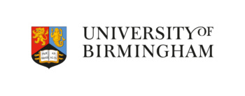 University of Birmingham logo. This version of the logo features the university's offical crest and the name of the institution written in full alongside it.