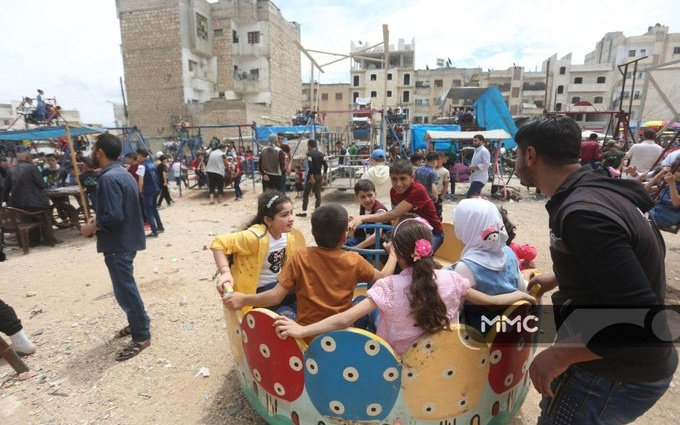 Celebrations and Protests in Syria's Idlib for End of Ramadan