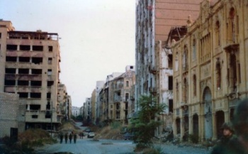 Beirut's Green LIne during the Lebanese Civil War