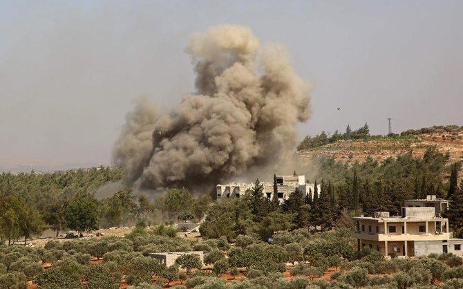 Russia Airstrikes, Including on Displaced Persons Camp, in Northwest Syria