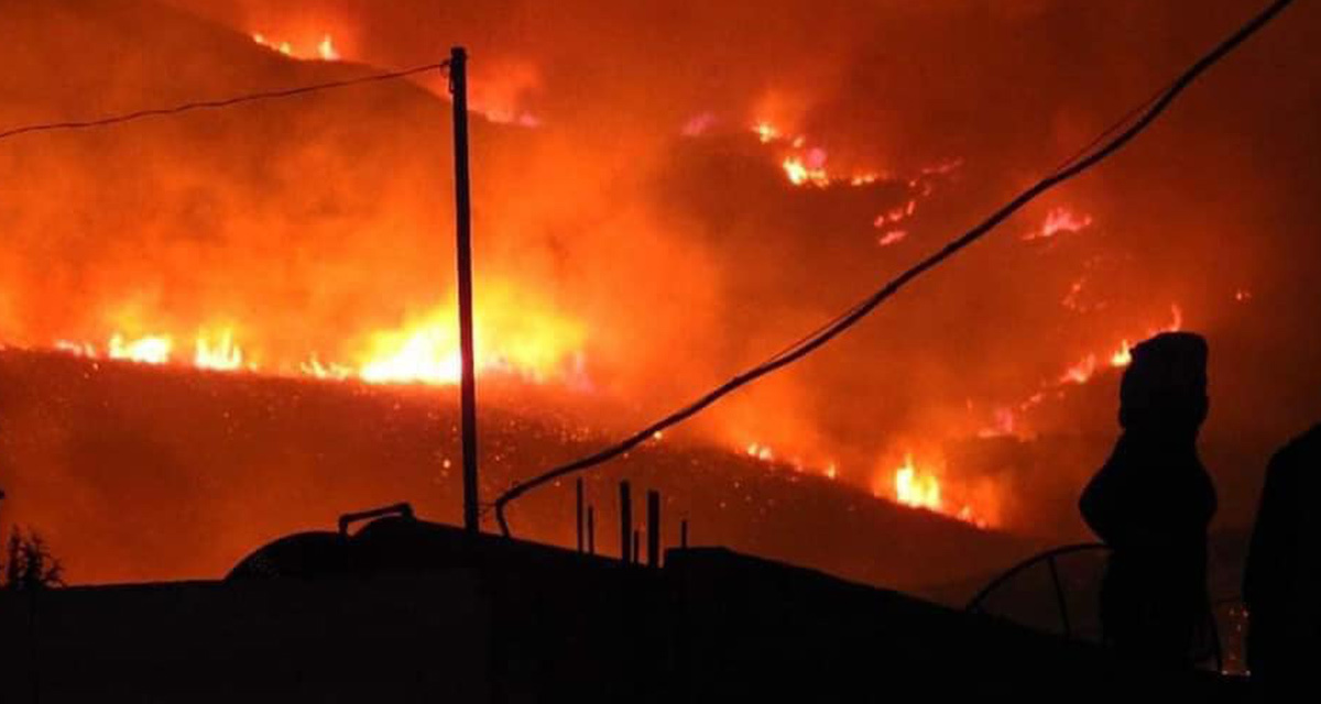 UPDATED: Forest Fires Spread Across Northwest Syria