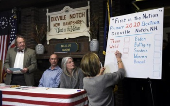 Dixville Notch, New Hampshire tallies ballots in primaries, February 11, 2020