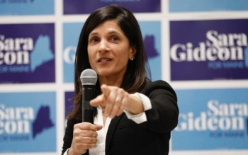 Sara Gideon, Democratic candidate for Maine Senate seat held by Susan Collins