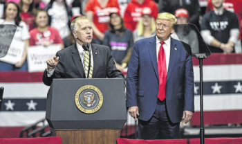 Thom Tillis and Donald Trump