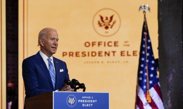 """Biden's Thanksgiving Call for Unity: """"Our Enemy is the Virus, Not Each Other"""""""