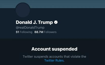 """Trump Banned From Twitter Over """"Incitement of Violence"""""""