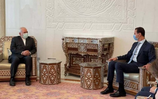 Iran FM Zarif Displays Support for Assad Regime