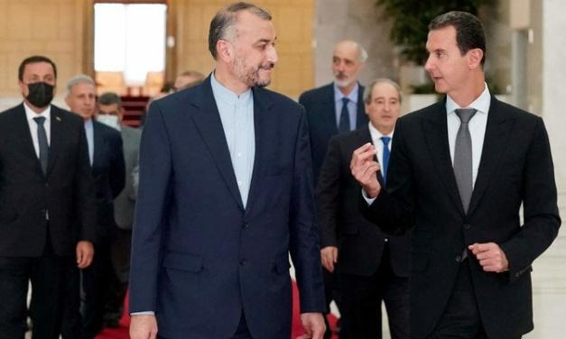 UPDATE: Amid Economic Crisis, Assad Regime Poses With Iran Meeting