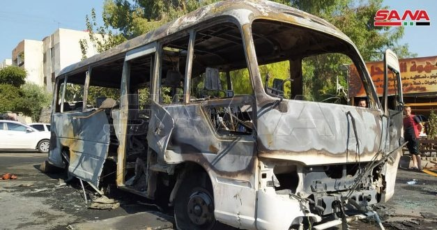 UPDATE: Casualties as Assad Regime Military Bus Bombed in Damascus